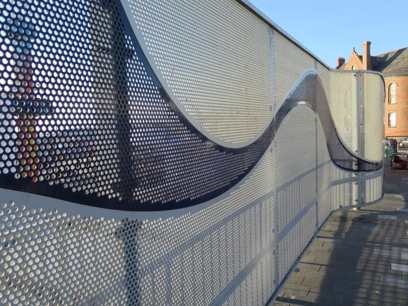 Perforated Metal Vision Screen Home