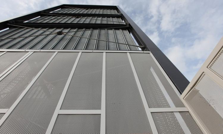 Cladding Infill Panels : Curtain wall graepels graepel perforators